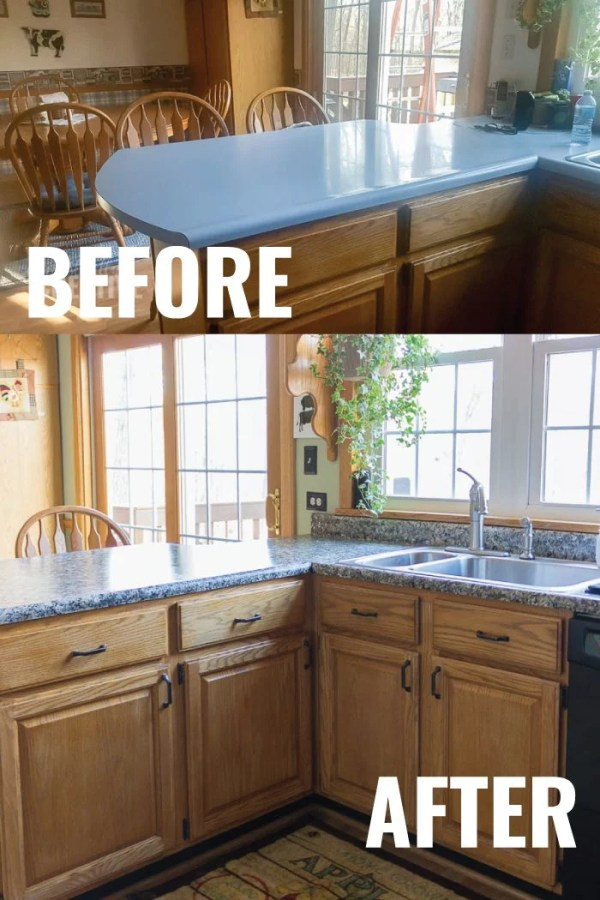 Before and After Kitchen counter makeover projecgt
