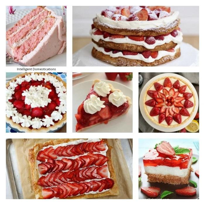 Fresh Strawberry Dessert Recipes. Desserts using fresh strawberries. Strawberry Dessert Ideas