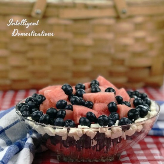 Watermelon Blueberry Summer Salad Recipe. How to make a Patriotic Watermelon Blueberry Summer Salad . Picnic food. Summer fruit salad. #picnicfood #watermelon #blueberries