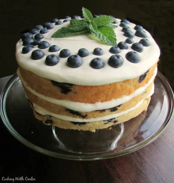 Lemon Blueberry Cake by Cooking with Carlee