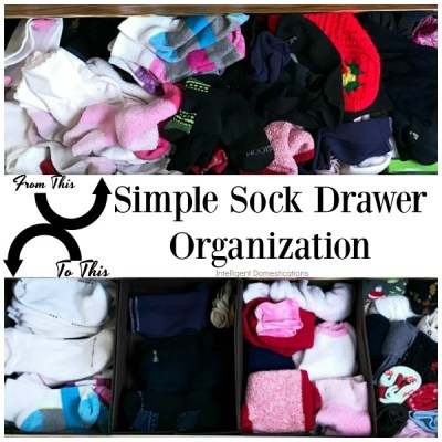 Simple Sock Drawer Organization