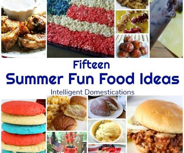 Summer Fun Food Ideas. Summer Food. Easy recipes to keep the children fed during summer break from school. #summerfunfood #funfood