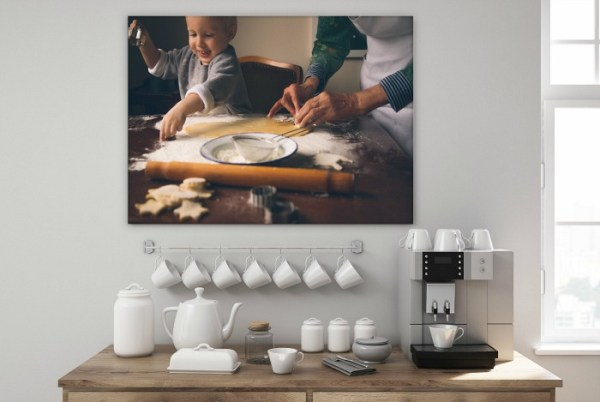 Decorating with canvas prints. Have your favorite photos mounted onto canvas for wall art in your home.