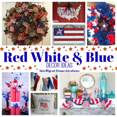 Creative Red White and Blue Decor Ideas Merry Monday 210