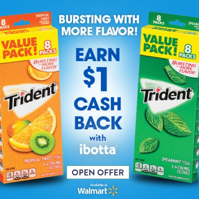 Trident Ibotta Deal at Walmart