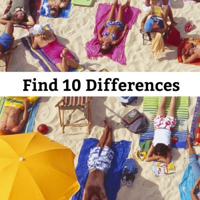 Find The Differences Beach Brain Teaser