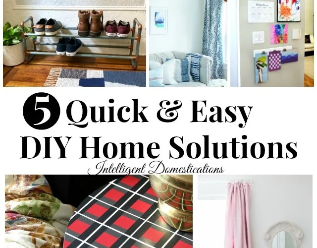 5 Quick and Easy DIY Home Solutions. Merry Monday 219 Features