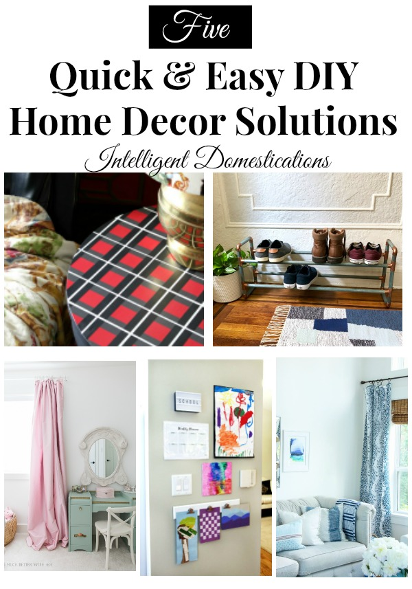 5 Quick and Easy DIY Home Solutions. Merry Monday 219 Features. #diy #homedecor