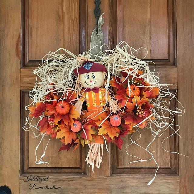 Scarecrow Fall Wreath Tutorial Intelligent Domestications