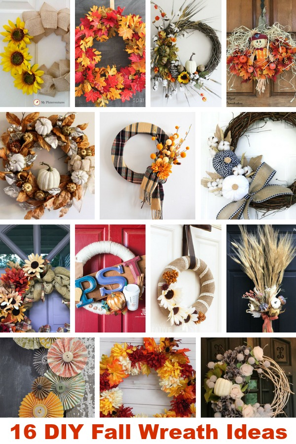 Fall Wreath Ideas. DIY Fall Wreath Ideas. #fall #DIY Wreath #DIY #wreath #fallwreath