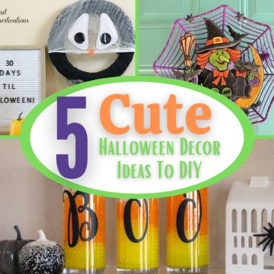 5 Super Cute Halloween Decor Ideas You Can Make