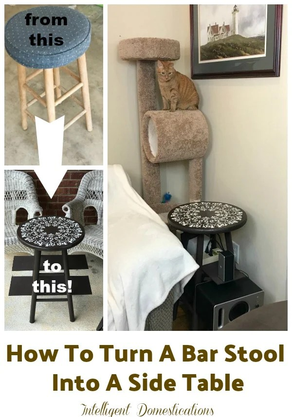 How To Turn A Stool Into A Side Table Intelligent