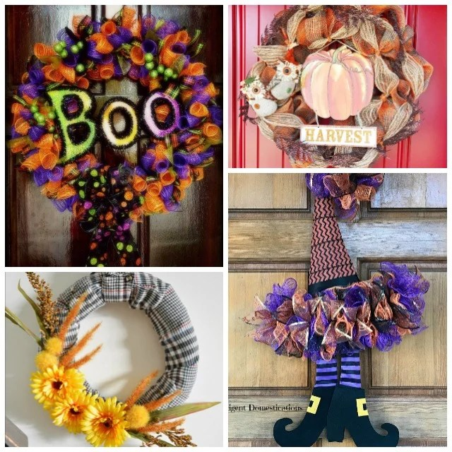 Fall Wreath Ideas. DIY Fall Wreath Tutorials