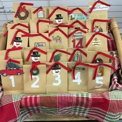 DIY Paper Bag Christmas Countdown Calendar