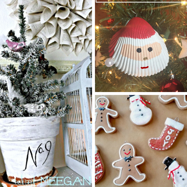 Flocked Tree 50 Plus DIY Christmas Ideas