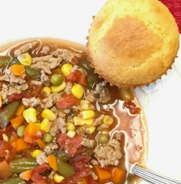 Easy Homemade Vegetable Soup recipe