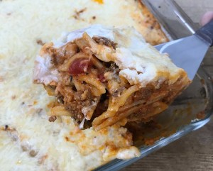 Cheese Sausage Pasta Casserole recipe.