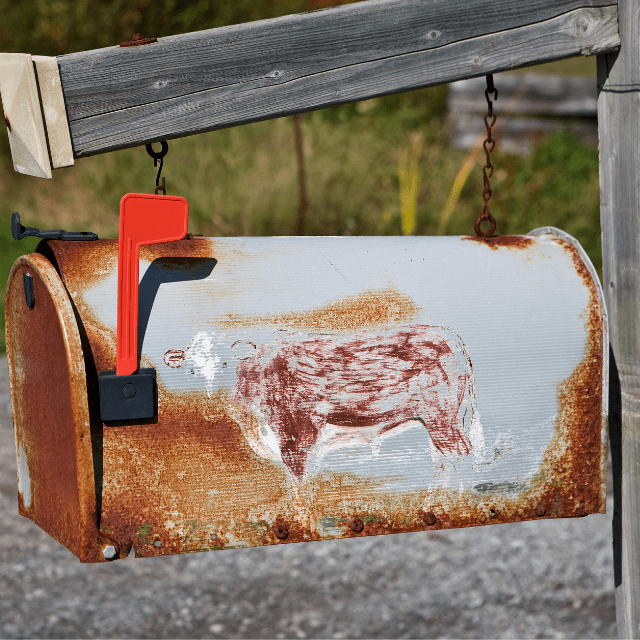 Create curb appeal for your home with these tips. Give your old mailbox a makeover. #curbappeal