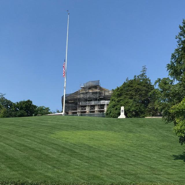 Robert E. Lee Home under renovations at Arlington National Cemetery in Washington DC