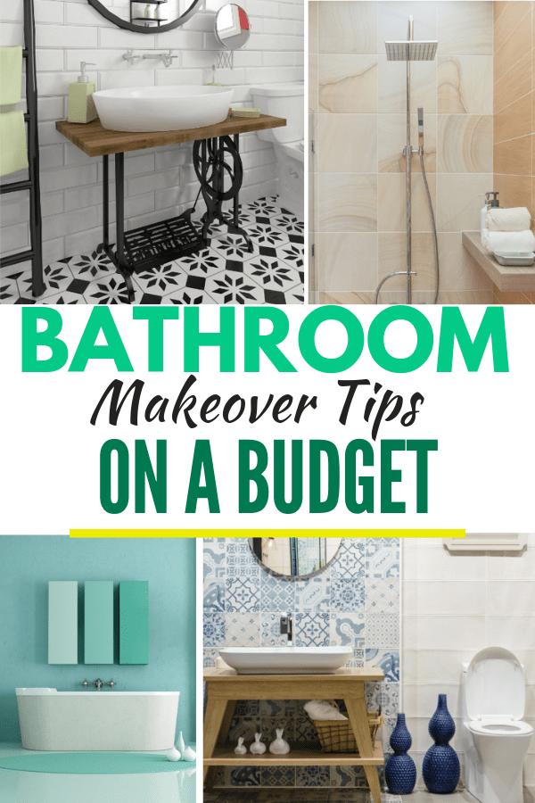 Bathroom Makeover Tips on A Budget. #bathroomdecor