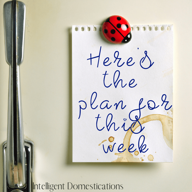 A note on a refrigerator for a weekly family plan