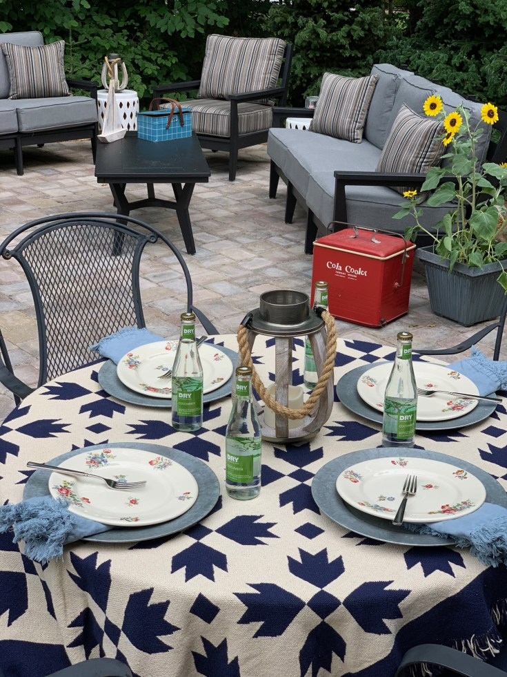 Late Summer Tablescape-White Arrows Home