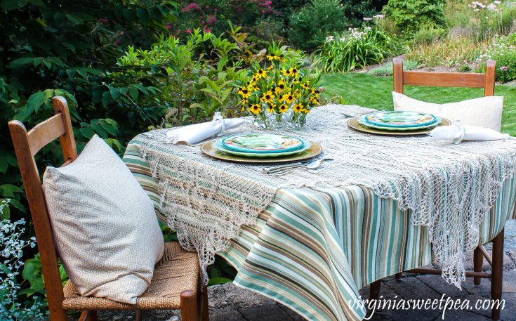Later Summer Tablescape