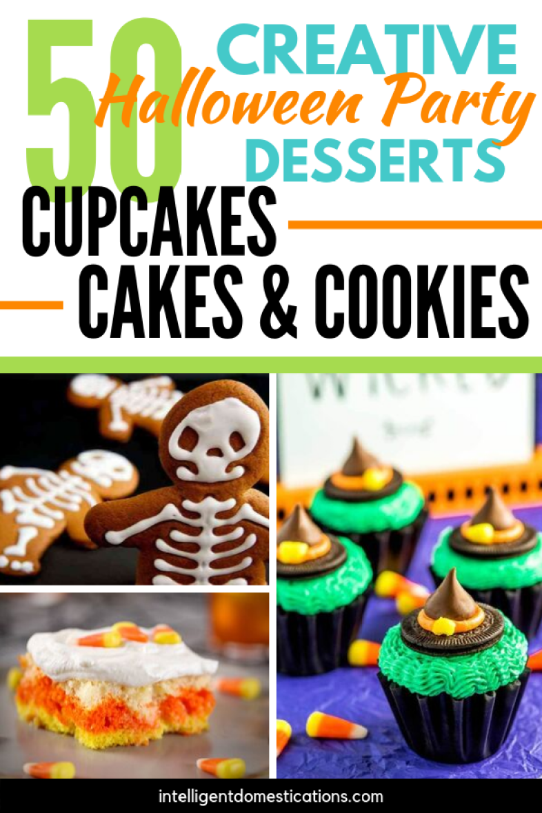 50 Recipes for Halloween Party Food. Cakes, Cookies and Cupcakes to treat your kids. Some of these recipes include tricks to make preparation easier! You will find Bat cookies, Spider Cupcakes, Monsters, Ghosts, Mummies, Owls and Witches hats. There are even some gluten free recipes included!