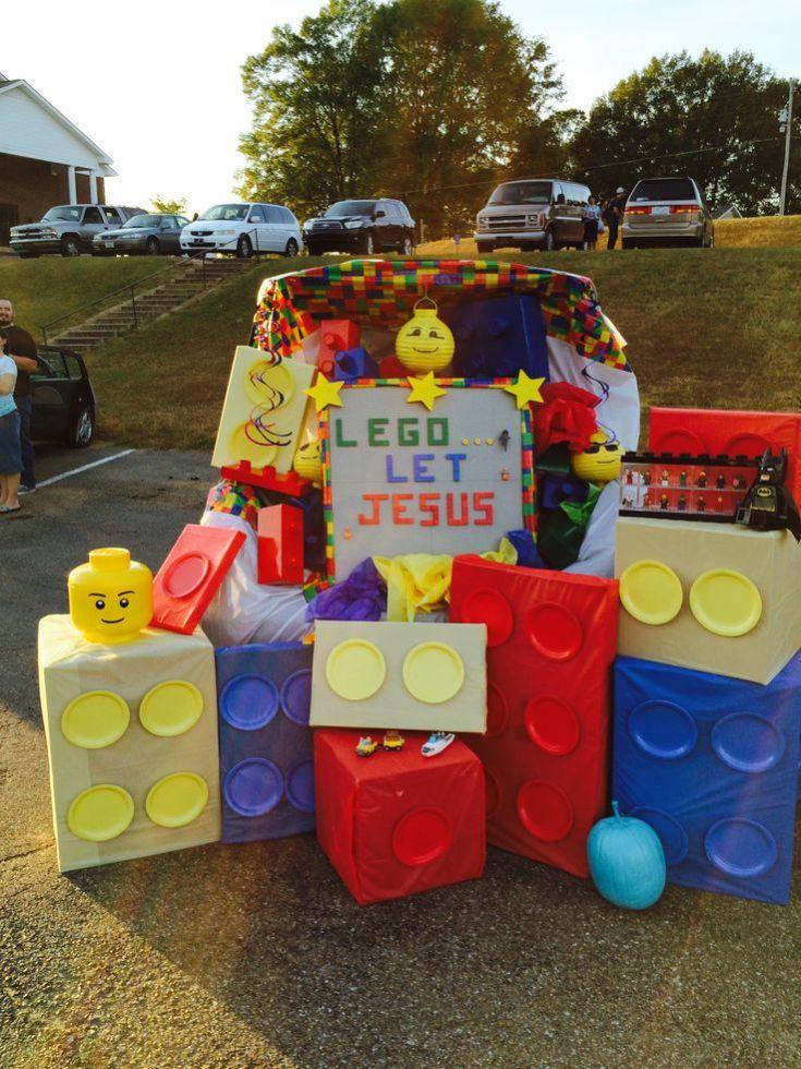 Lego Let Jesus Trunk or Treat idea- Christian Halloween