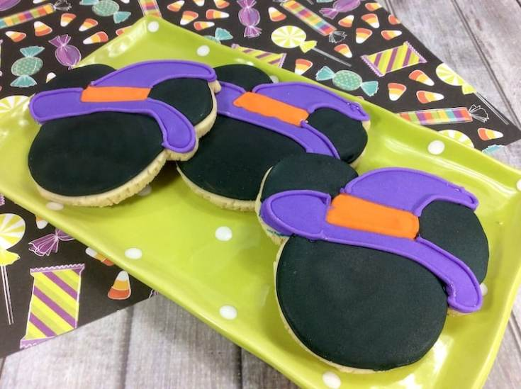 Mickey Mouse Witch Sugar Cookies
