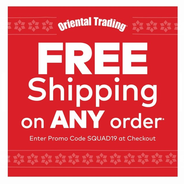 Oriental Trading Free Shipping Code