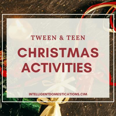 Tween & Teen Christmas Activities