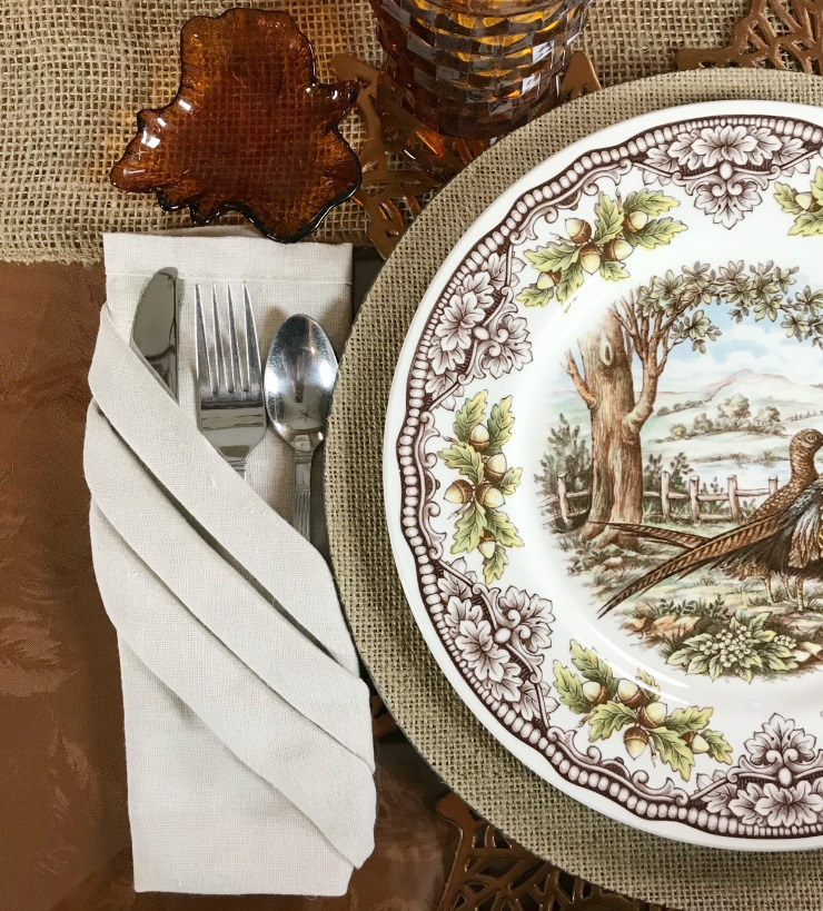 A Thanksgiving table place setting