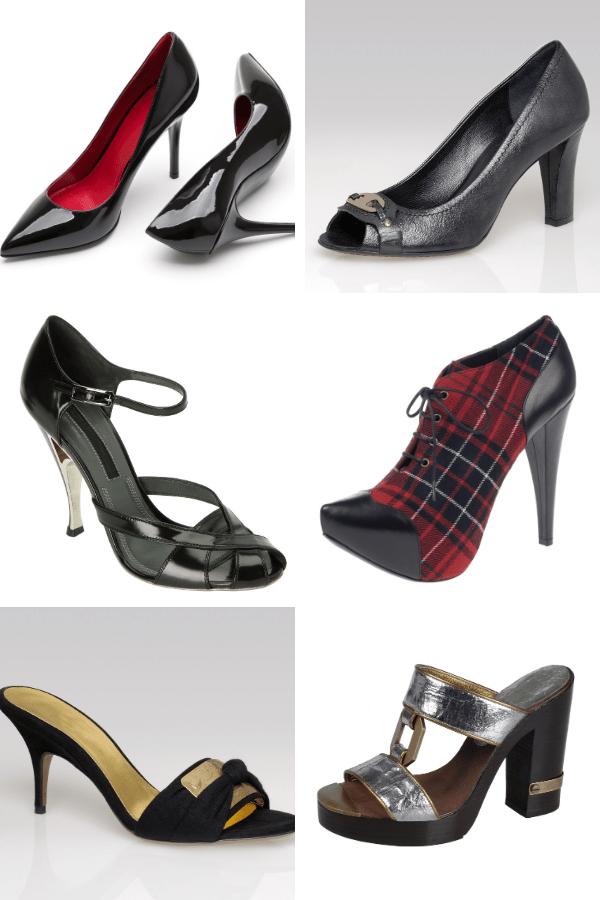 Six pair of Women's classic high heel shoe styles