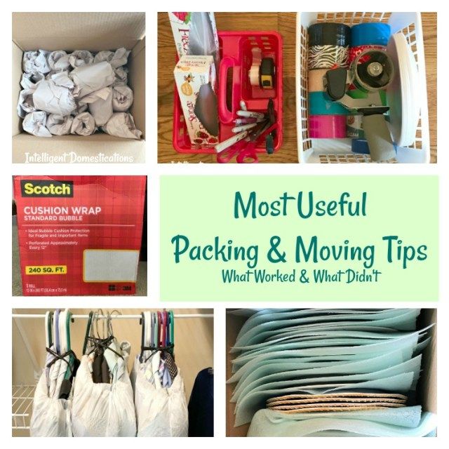 Most Useful Packing and Moving Tips. What worked and what didn't for us. #movingtips #intellid