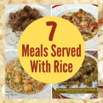 7 Meals Served with Rice. Easy recipes using rice as an ingredient or served on a bed of rice. Grocery budget Stretchers.