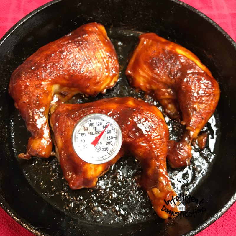 Check your baked chicken using a meat thermometer