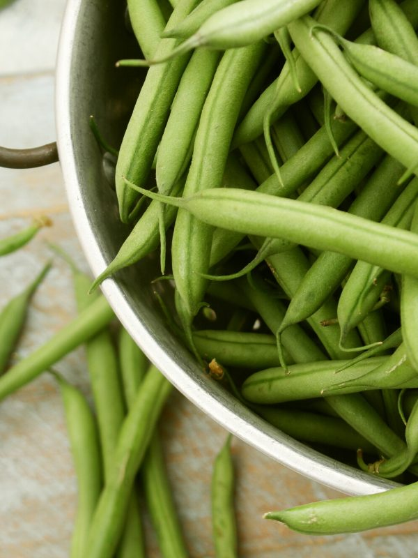 Rinse your Fresh Green Beans in a colander