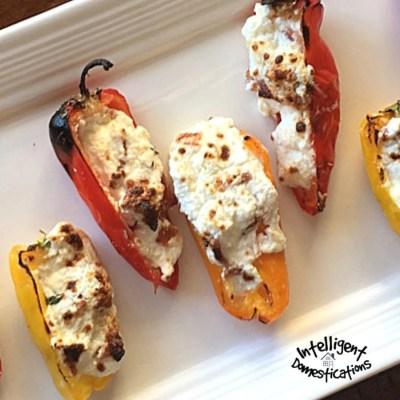 Cheesy Bacon Stuffed Sweet Mini Peppers