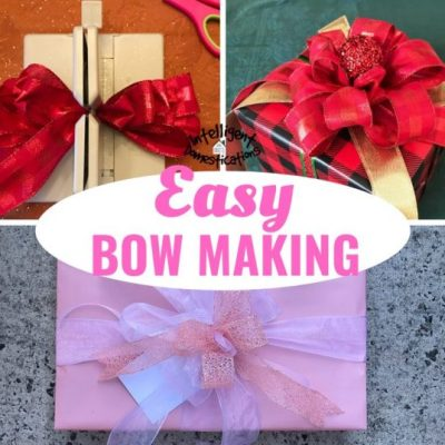 The Easy Way I Make A Bow With Ribbon
