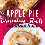 Cinnamon rolls with apples