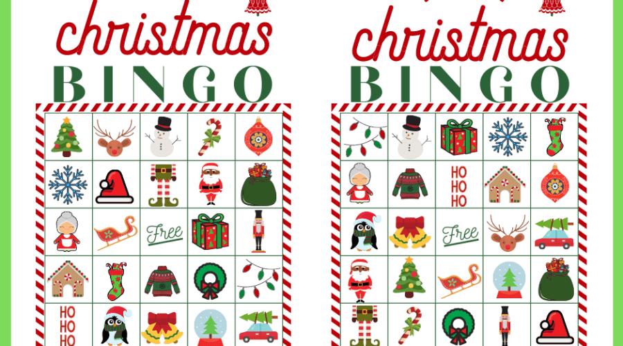 Christmas BINGO printable cards