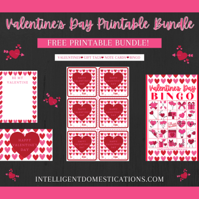 Valentine's Printables Bundle with Cards, Gift Tags & Bingo Game