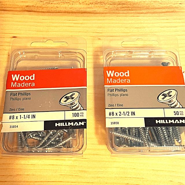 2 boxes of wood screws