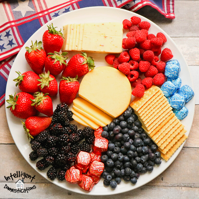 Vegetarian Red White and Blue Charcuterie Board