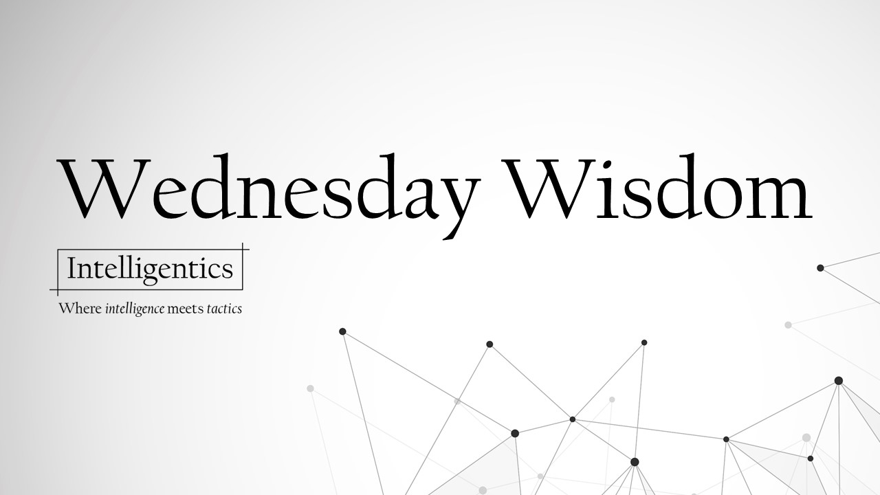 Wednesday Wisdom: It's What You Measure