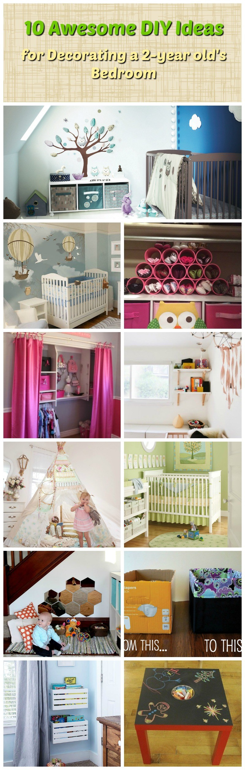 10 Awesome DIY Ideas for Decorating a 2-year old's Bedroom ...