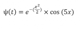 The equation for the Morlet wavelet
