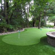 backyard synthetic grass putting green installers