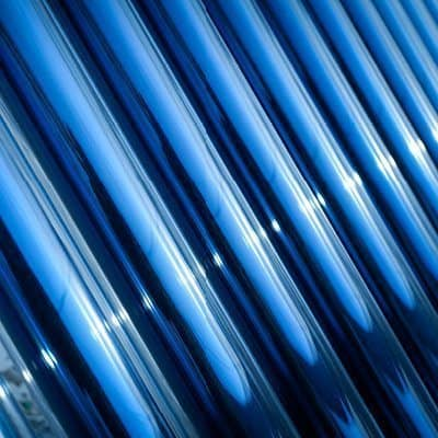 close-up thermische panelen zonneboiler